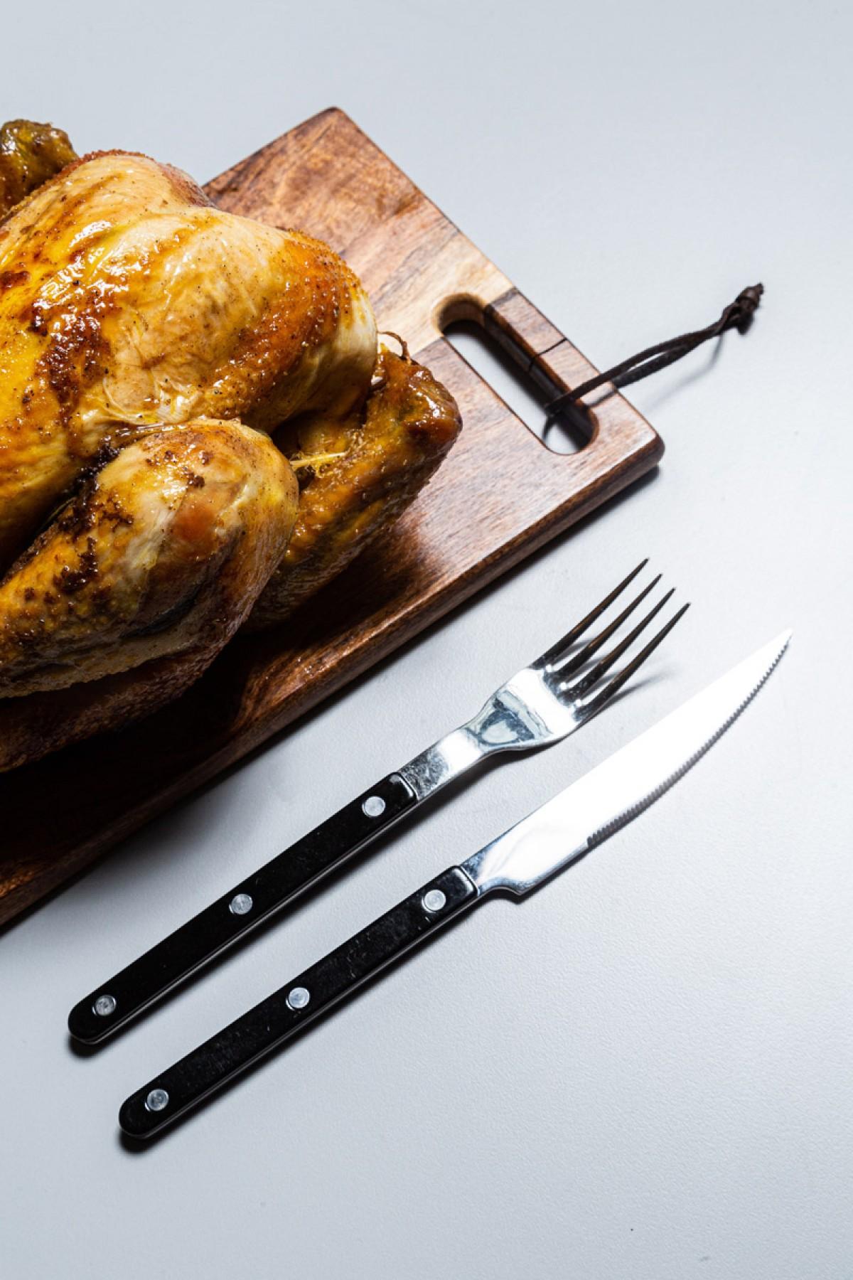 La part de poulet rôti